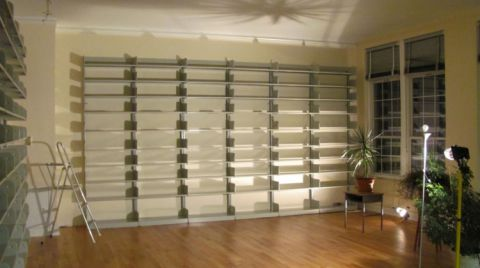 Installed shelving 2012